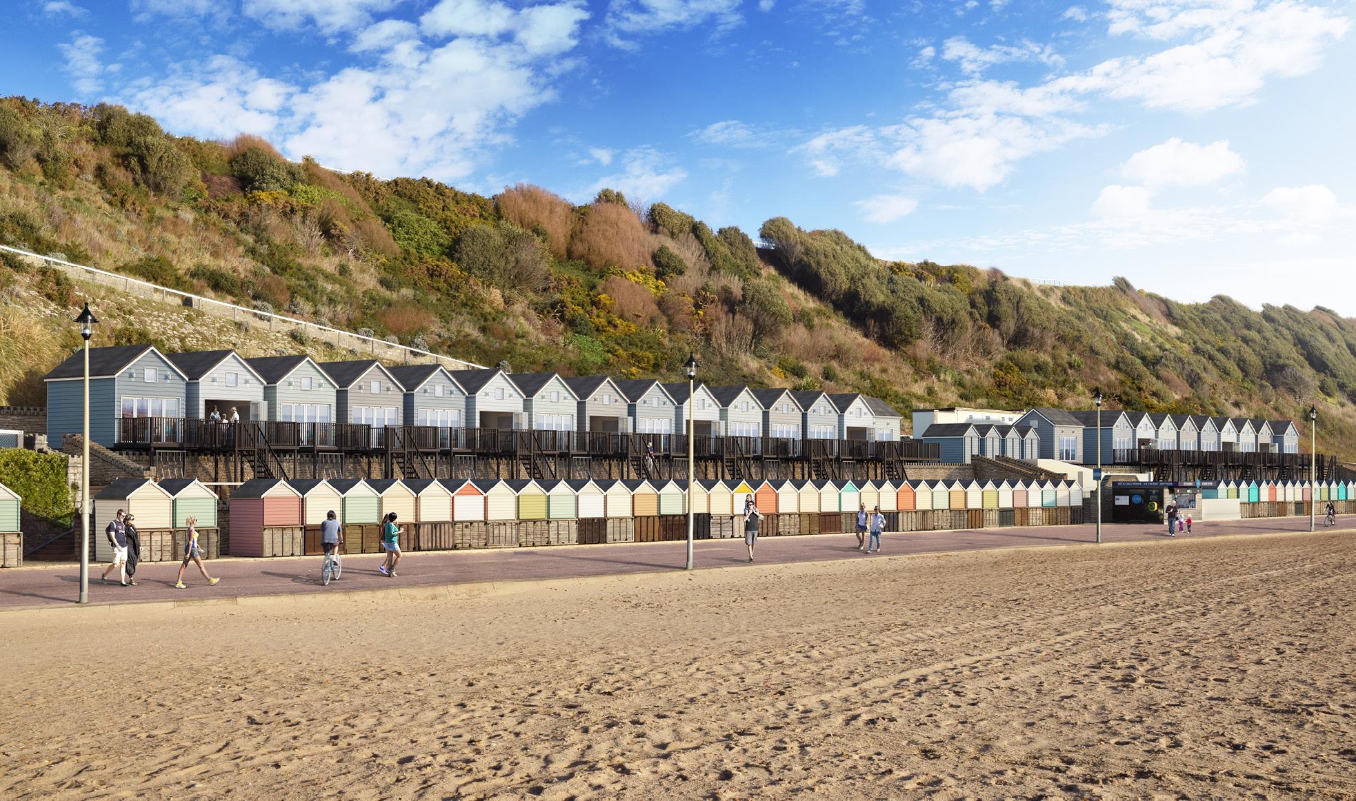 Artists CGI impression of new beach lodges